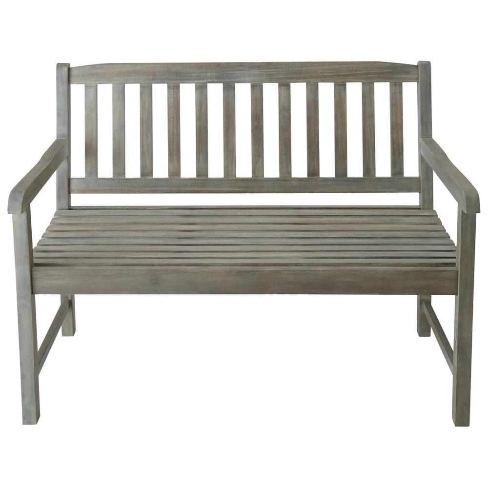 Merveilleux Maison Du Monde Saint Malo #6: 2 Seater Greyed Acacia Wood Garden Bench Seat
