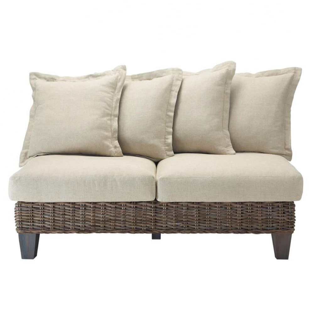 2 seater light kubu rattan garden sofa cap ferret - Sofas en esquina ...