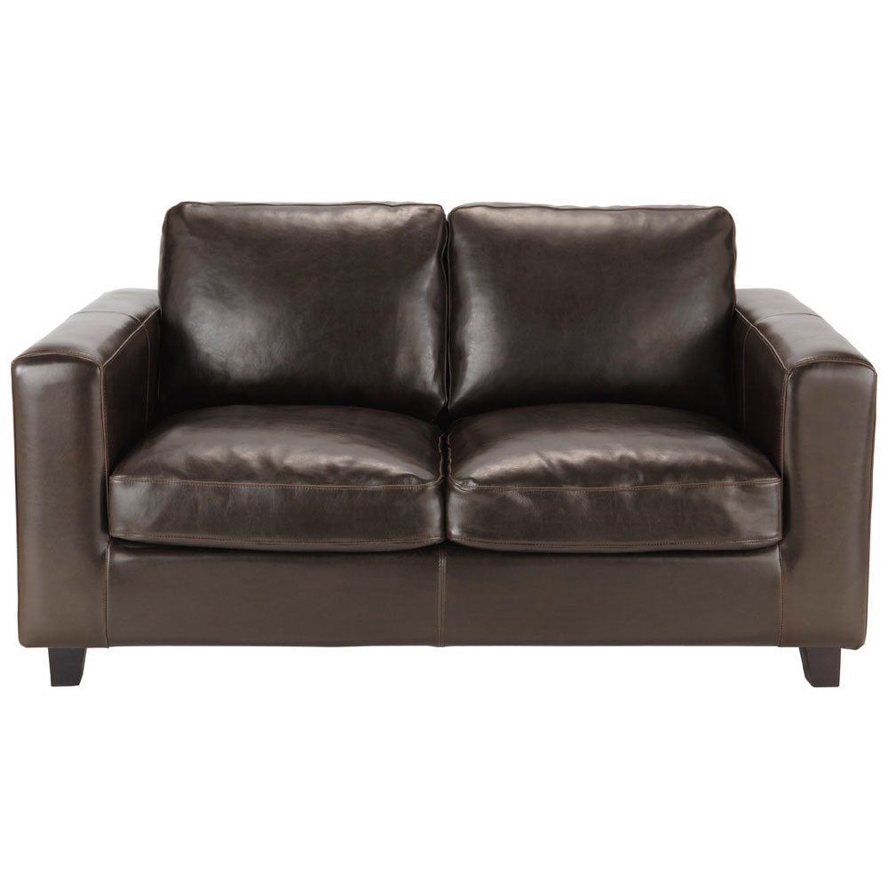 2 Seater Leather Sofa Brown: 2 Seater Split Leather Sofa In Brown Kennedy