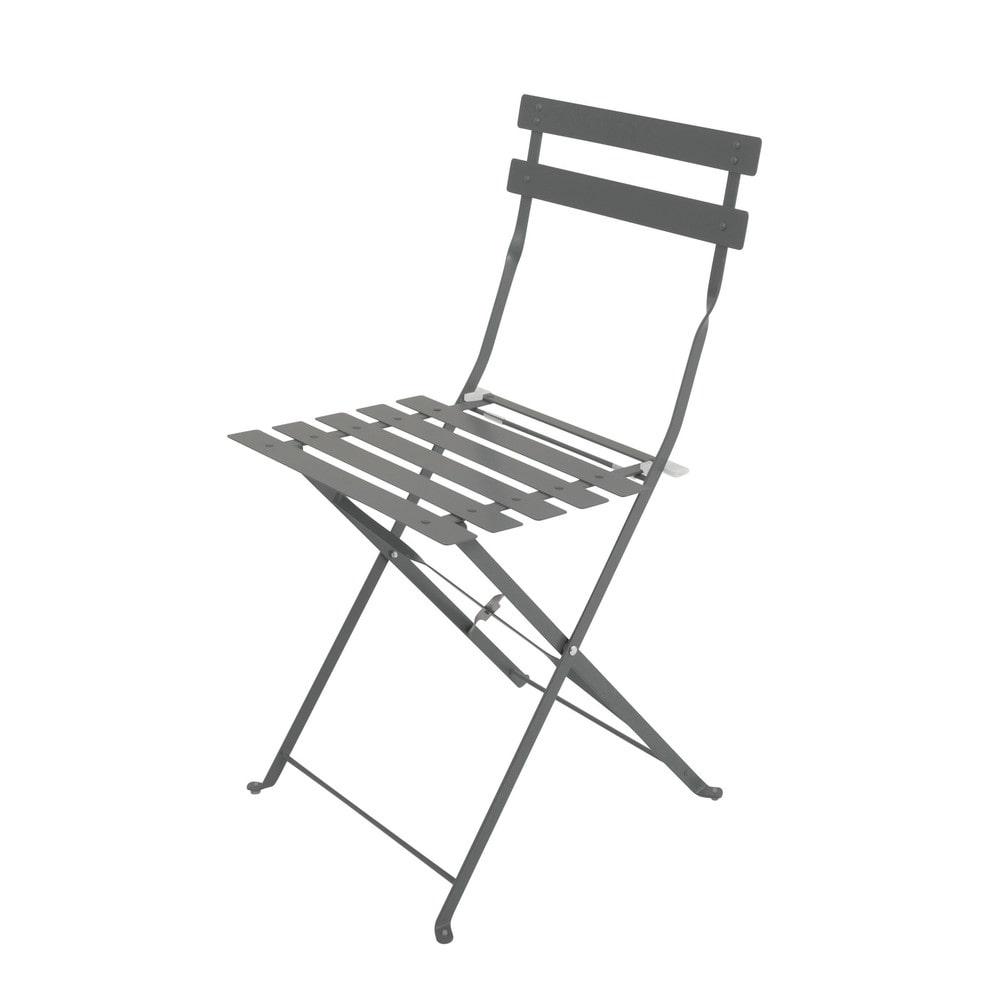 2 sedie pieghevoli da giardino in metallo guinguette - Sedie da giardino pieghevoli ...