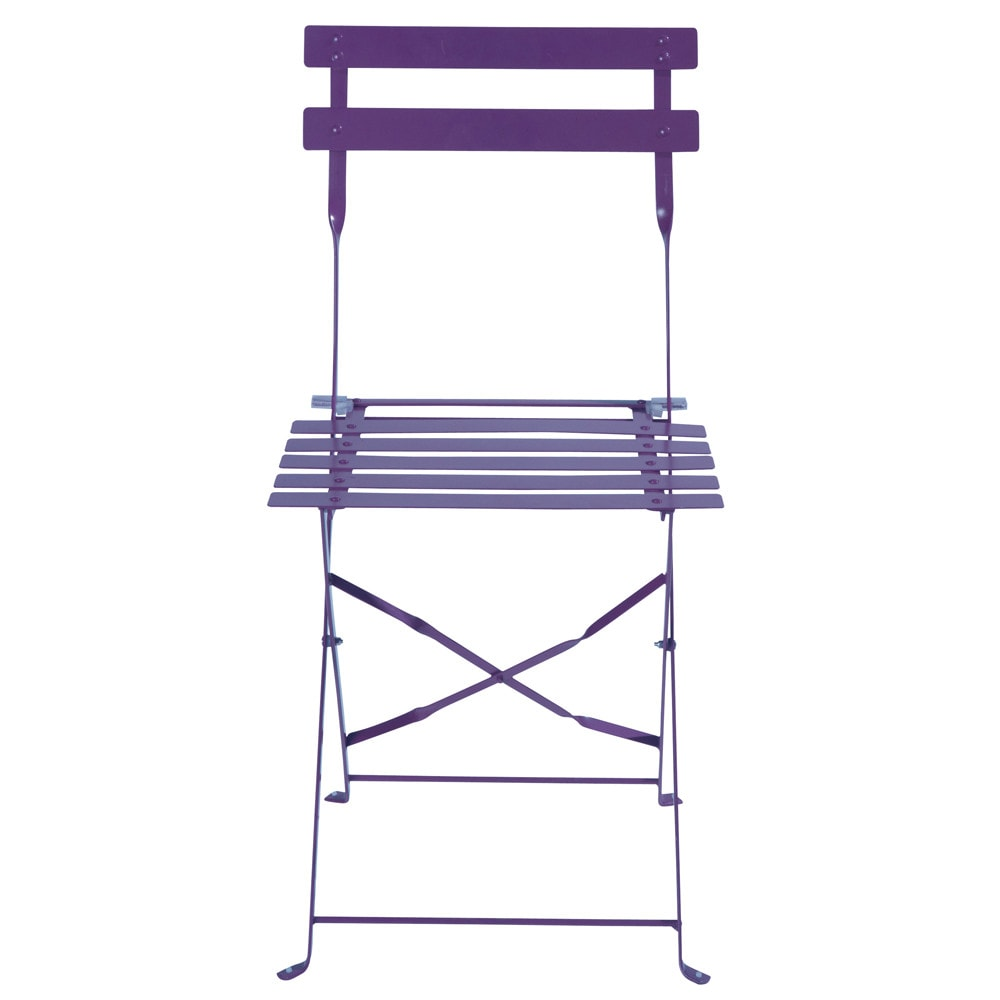 2 sedie pieghevoli viola da giardino in metallo confetti - Sedie pieghevoli da giardino ...