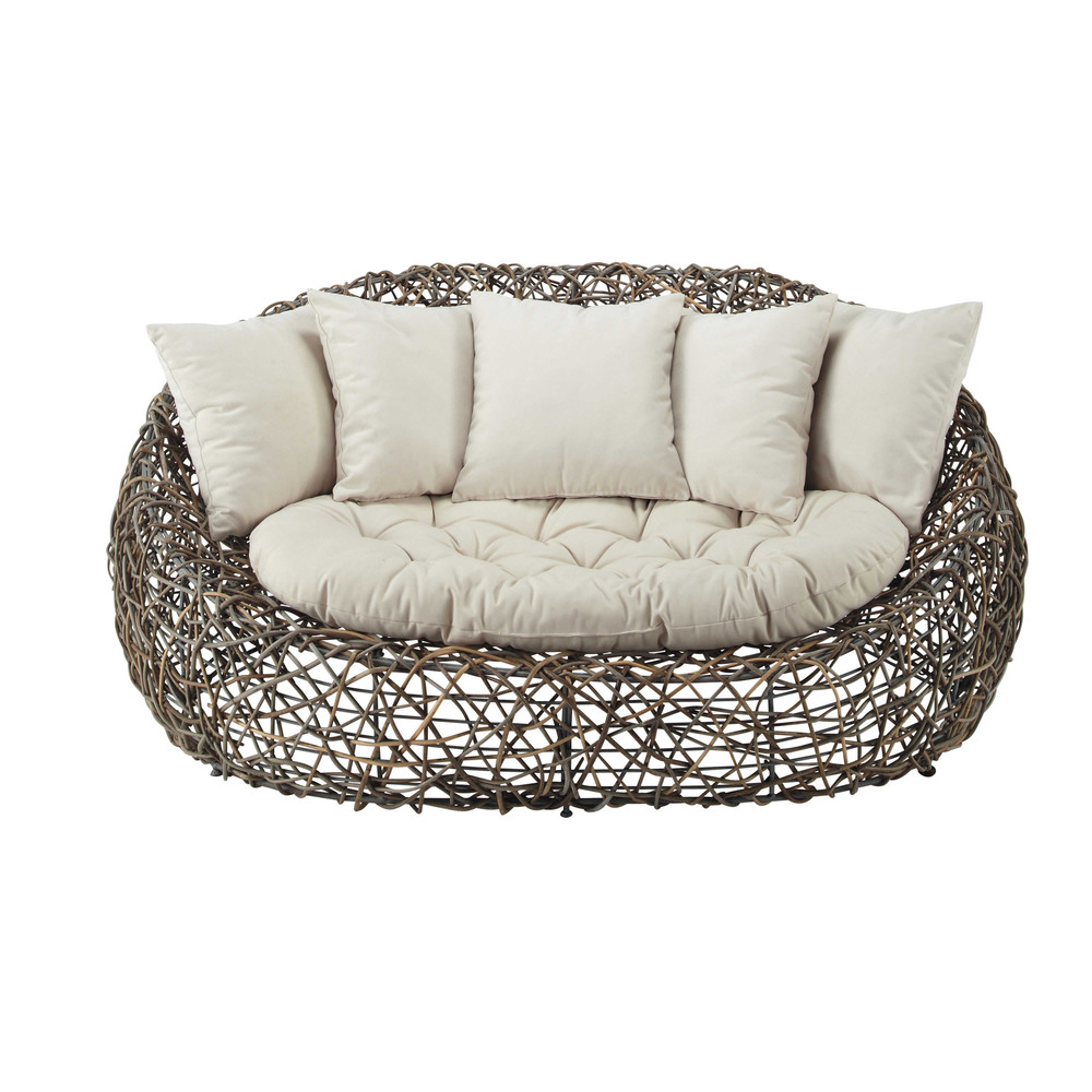 2 sitzer gartensofa aus kubu rattan bangkok maisons du monde. Black Bedroom Furniture Sets. Home Design Ideas