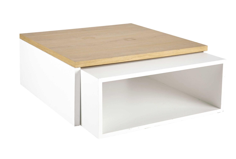 2 Tables Basses Blanches Austral Maisons Du Monde