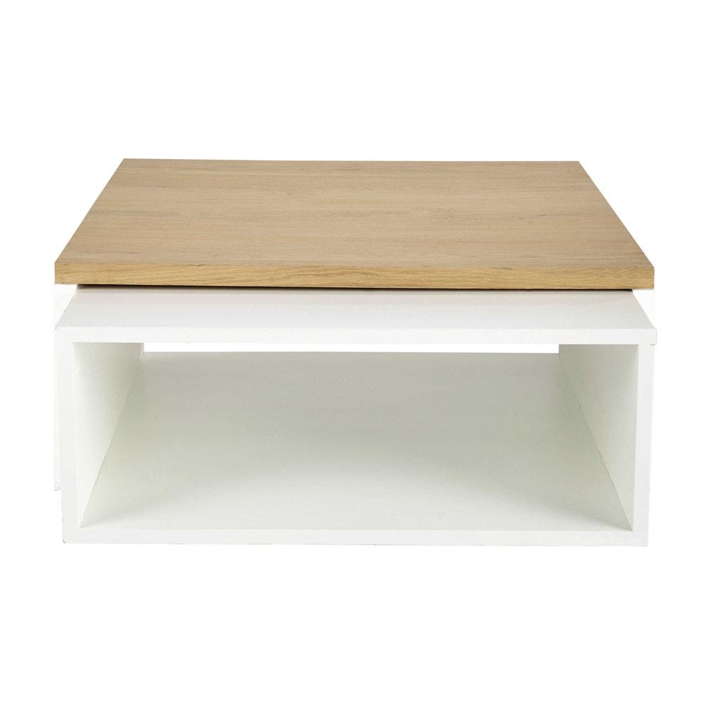 tavolini bianchi bassi in legno : tavoli bassi bianchi in legno L 100 cm e L 94 cm Austral Maisons ...