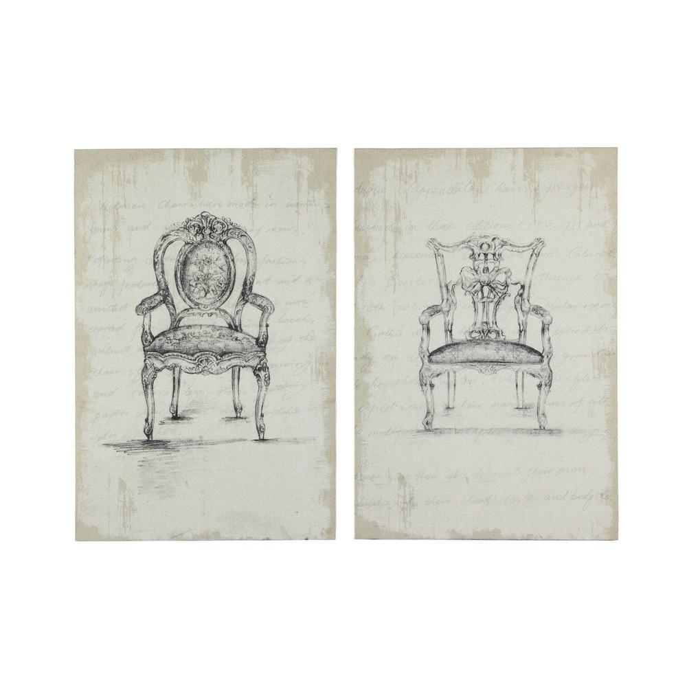 2 toiles 80 x 120 cm fontenay maisons du monde. Black Bedroom Furniture Sets. Home Design Ideas