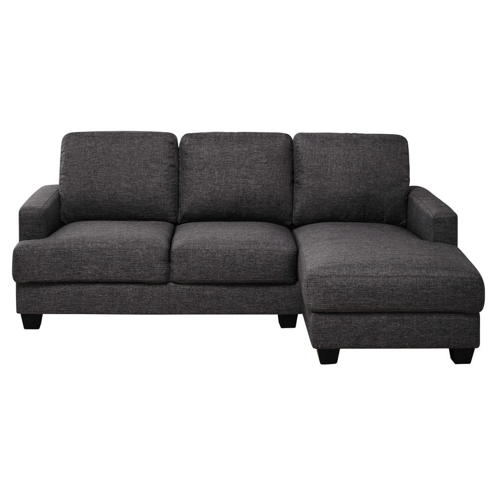 3 4 Seater Fabric Rhf Corner Sofa In Heather Grey