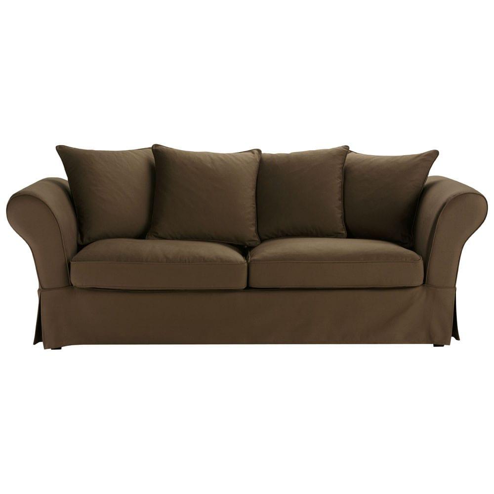 3 4 sitzersofa nicht ausziehbar schoko roma roma maisons du monde. Black Bedroom Furniture Sets. Home Design Ideas