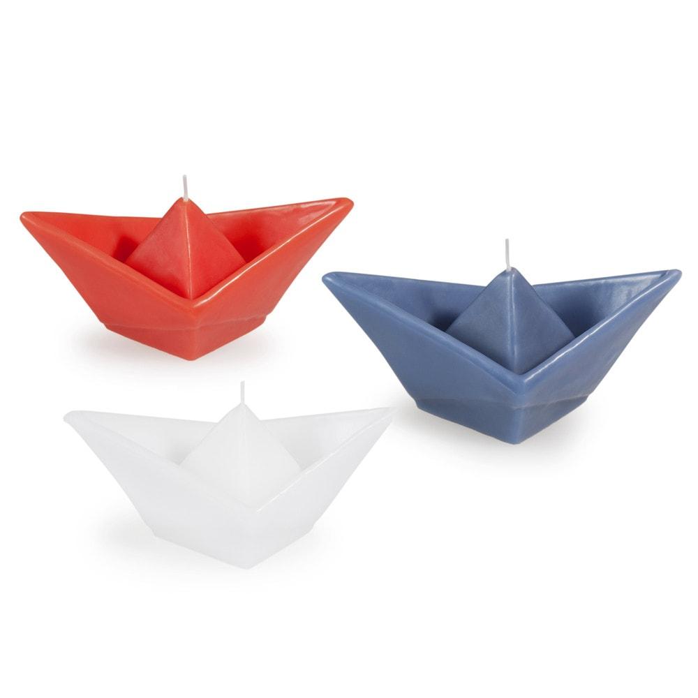 3 bougies origami bateau maisons du monde. Black Bedroom Furniture Sets. Home Design Ideas