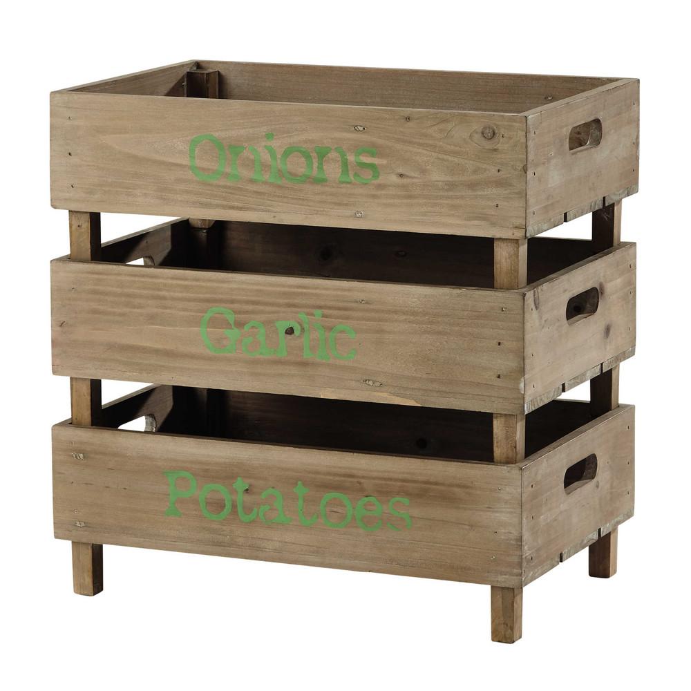 Caisse En Bois Maison Du Monde : caisses en bois 30 x 47 cm primeurs pratiques ces caisses en bois