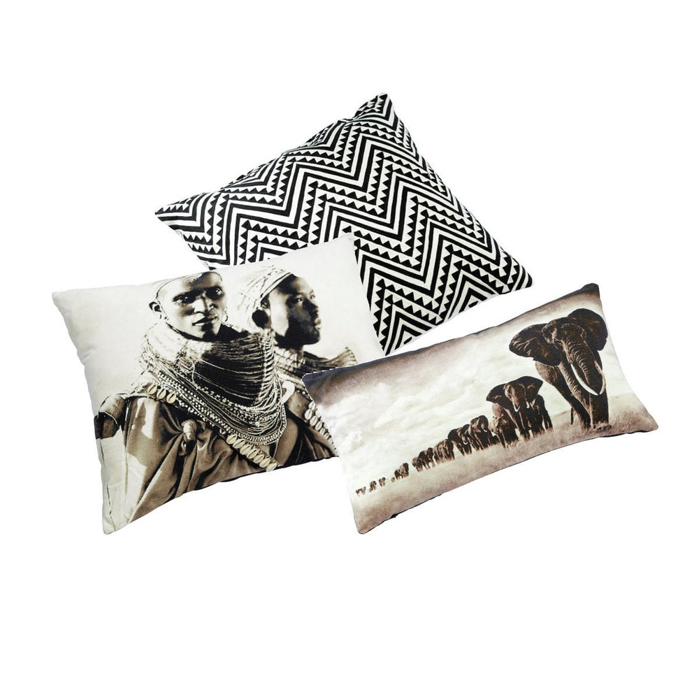 3 coussins africains berb re maisons du monde. Black Bedroom Furniture Sets. Home Design Ideas