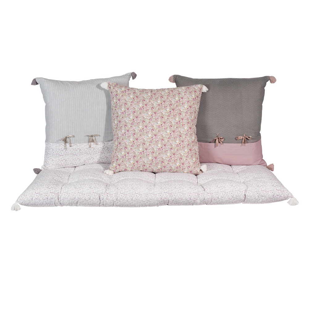 3 cuscini materasso in cotone pimprenelle maisons du monde. Black Bedroom Furniture Sets. Home Design Ideas