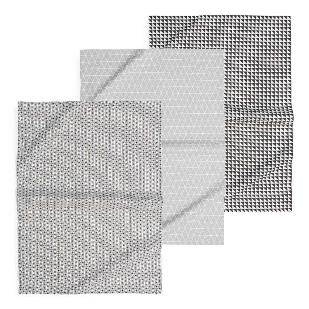 3 geschirrt cher geometrix aus baumwolle maisons du monde. Black Bedroom Furniture Sets. Home Design Ideas