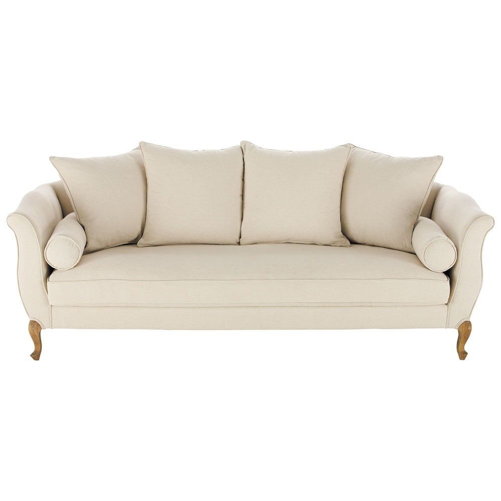 3 seater cotton sofa bench louise maisons du monde - Maison du monde sofa ...