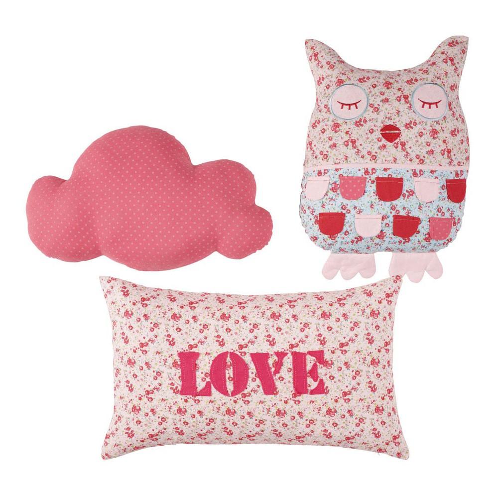 3 teiliges kissen set f r kinder poetik maisons du monde. Black Bedroom Furniture Sets. Home Design Ideas
