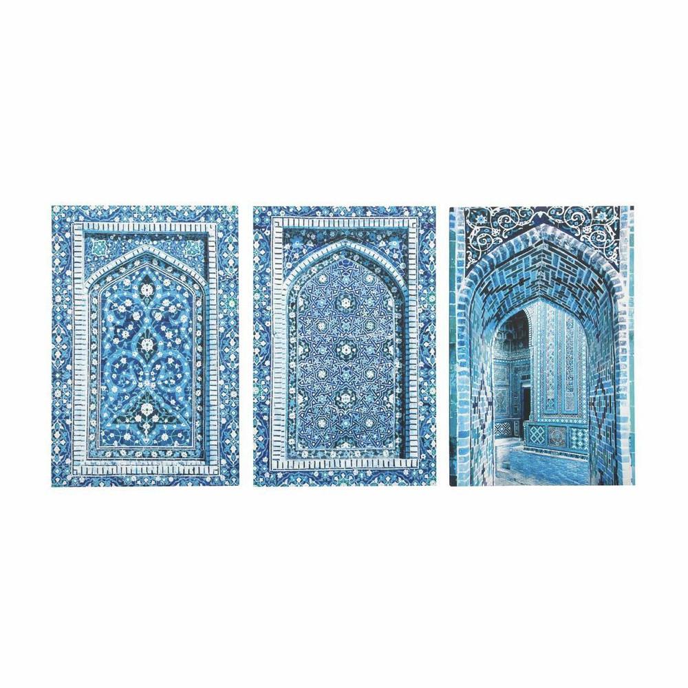 3 tele blu 53 x 80 cm gab s maisons du monde. Black Bedroom Furniture Sets. Home Design Ideas