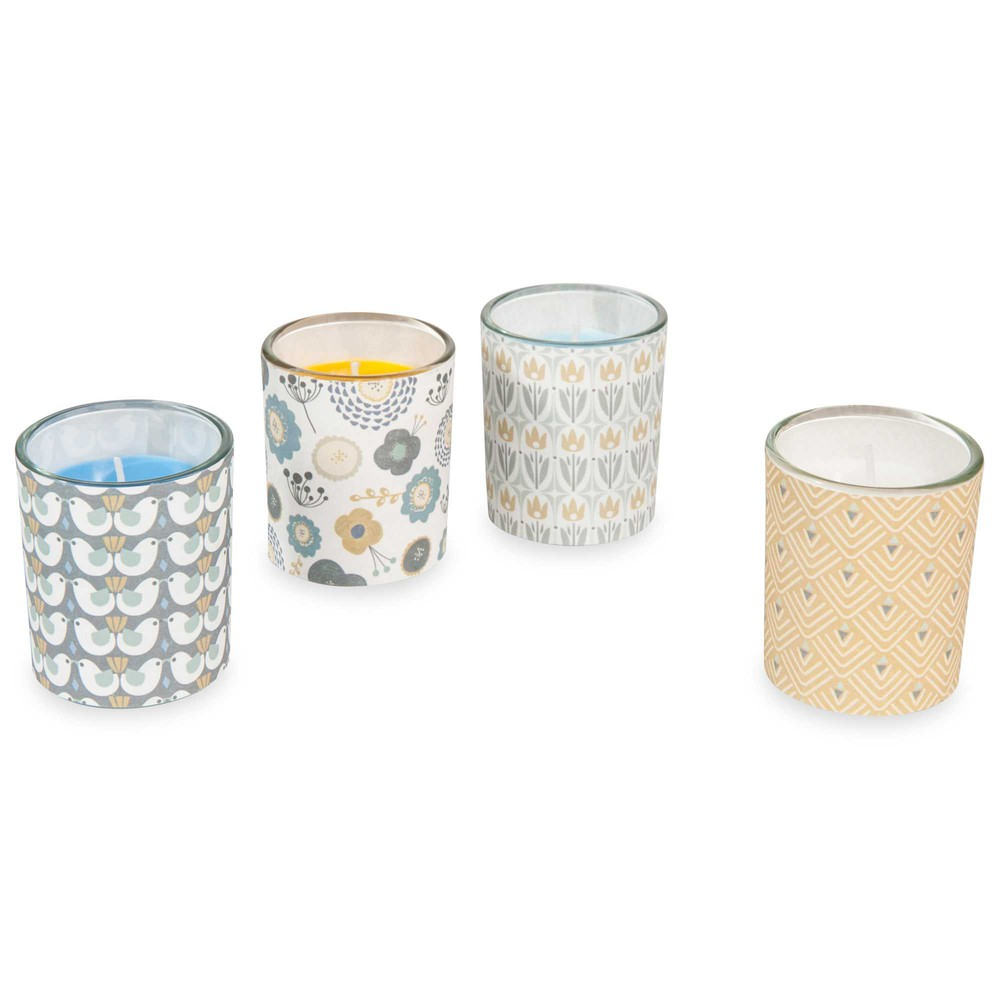 4 bougies en verre portobello maisons du monde - Portobello maison du monde ...