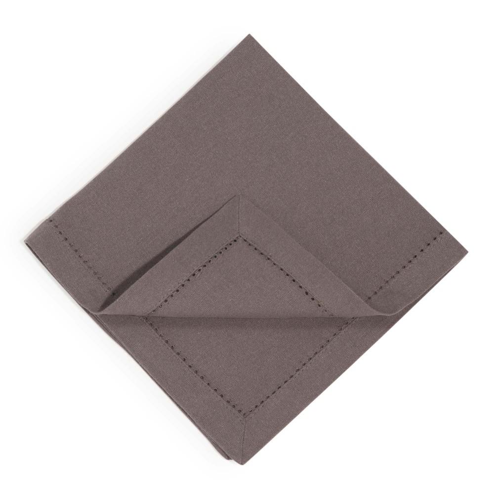4 charcoal cotton serviettes 40 x 40 cm maisons du monde. Black Bedroom Furniture Sets. Home Design Ideas