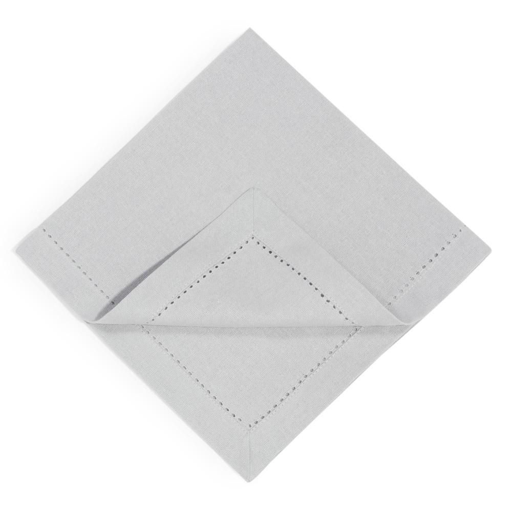 4 grey cotton serviettes 40 x 40 cm maisons du monde - Seche serviette 40 cm ...