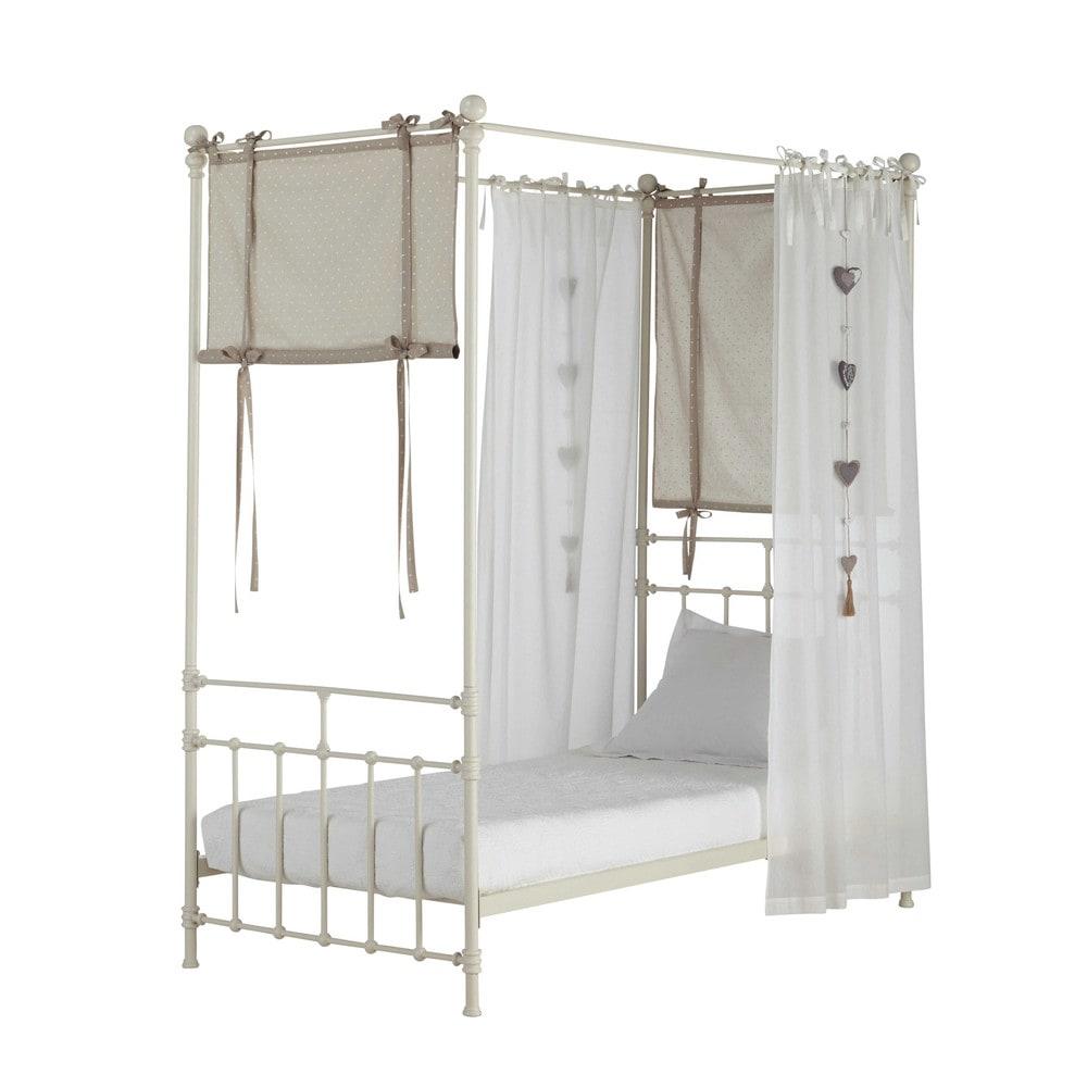 4 katoenen gabrielle bed sluiers l 94 200 cm maisons du monde - Decoratie bed ...