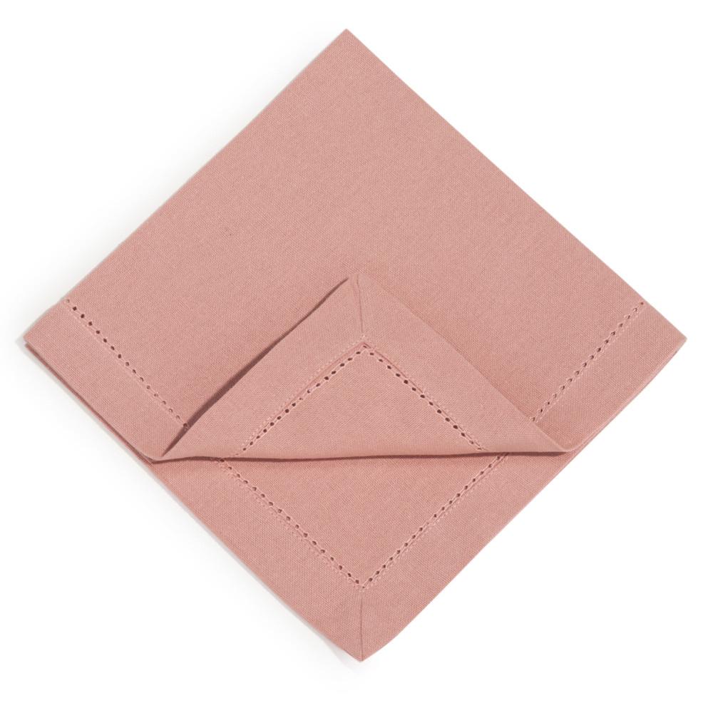 4 pink cotton serviettes 40 x 40 cm maisons du monde - Seche serviette 40 cm ...
