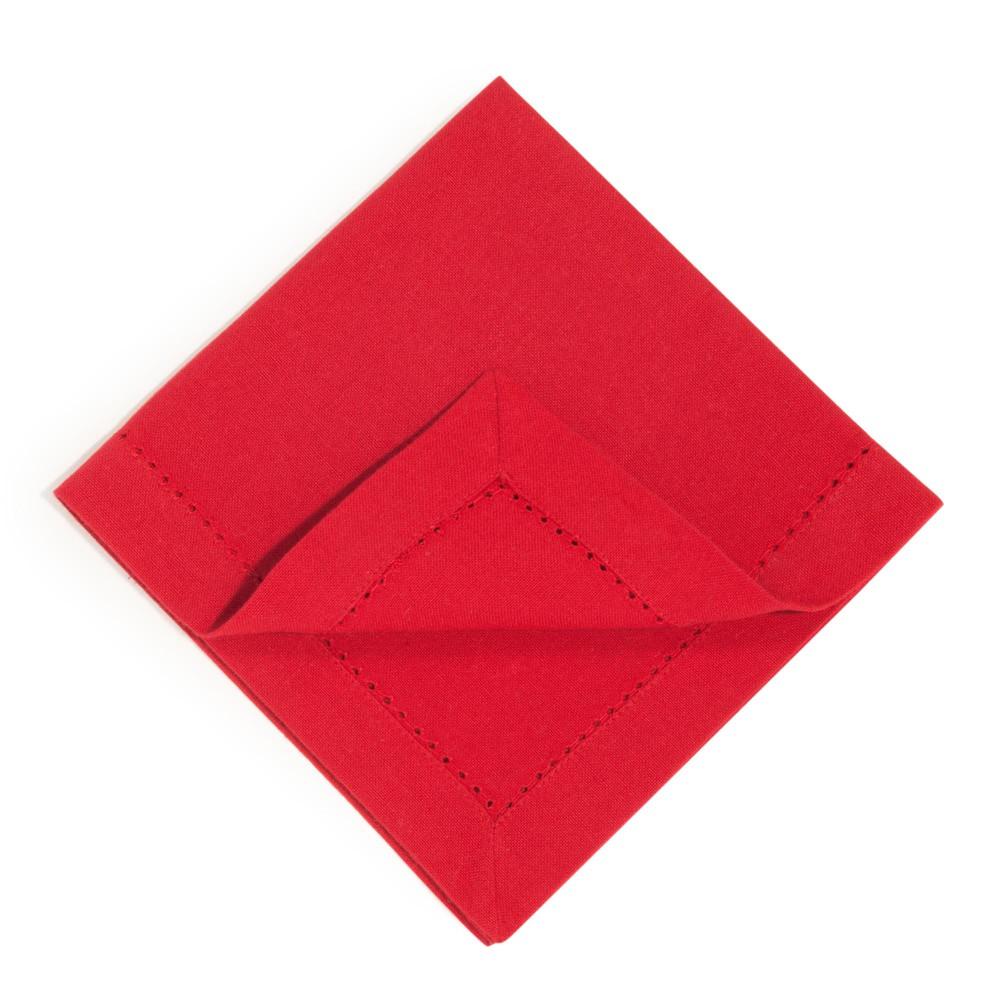 4 red cotton serviettes 40 x 40 cm maisons du monde - Seche serviette 40 cm ...