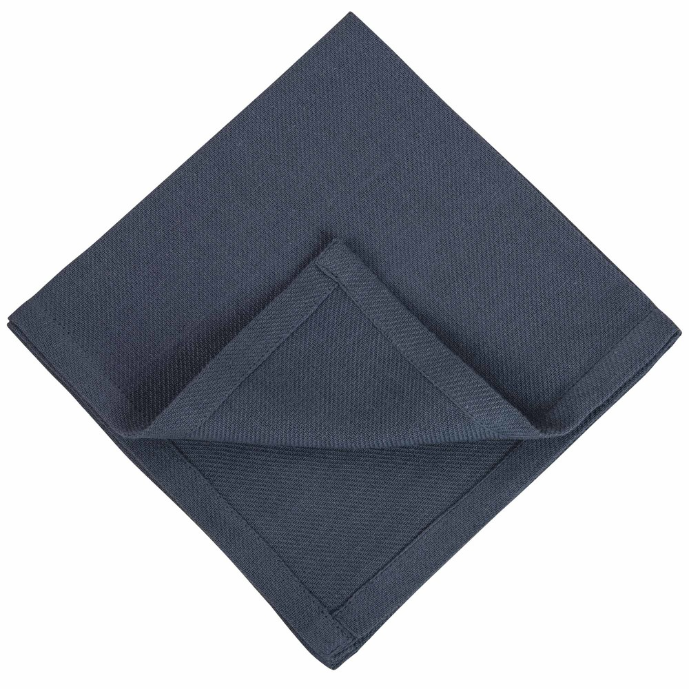 4 serviettes de table en coton lav bleu 40x40 maisons du monde. Black Bedroom Furniture Sets. Home Design Ideas
