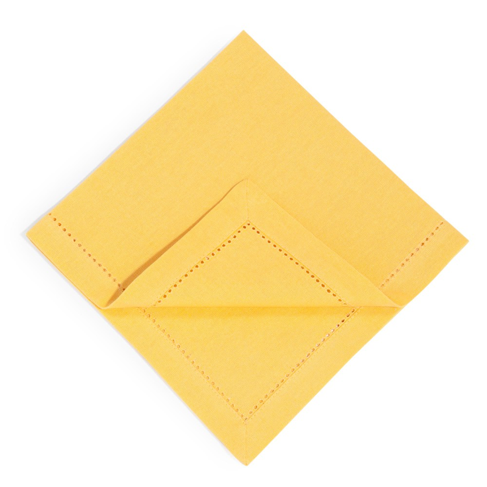 4 serviettes en coton jaune moutarde 40 x 40 cm maisons du monde. Black Bedroom Furniture Sets. Home Design Ideas
