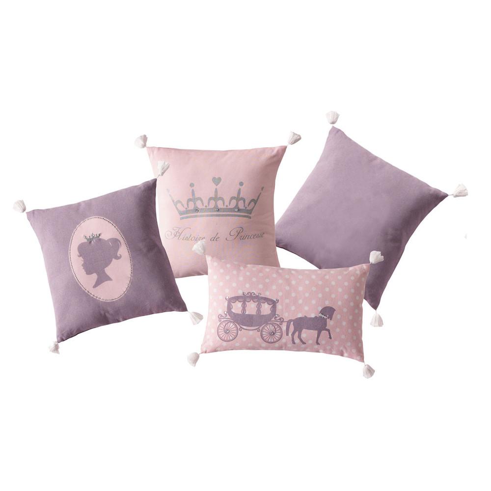 4 teiliges kissen set f r kinder prinzessin maisons du monde. Black Bedroom Furniture Sets. Home Design Ideas