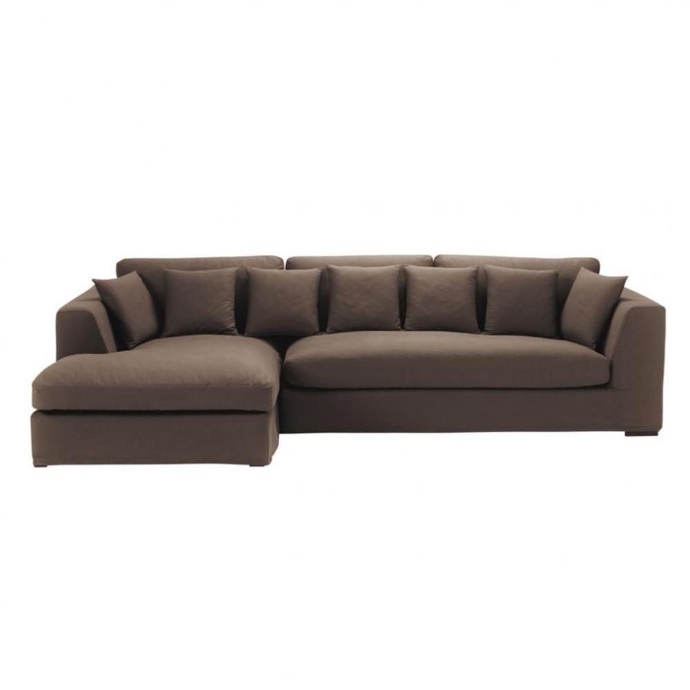5 Seat Corner Sofa In Chocolate Long Island Long Island