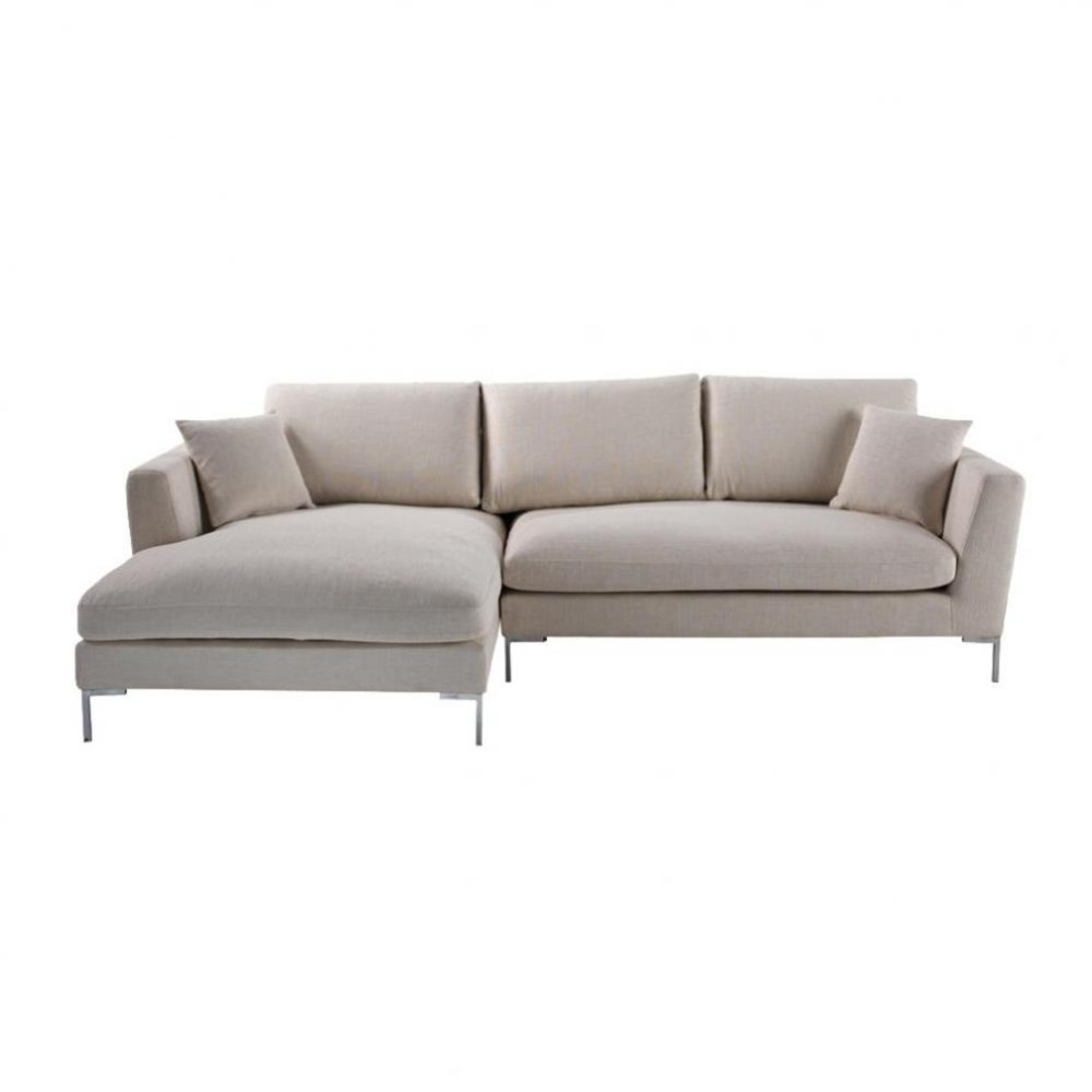 5 Seat Corner Sofa In Ecru Dublin Dublin Maisons Du Monde