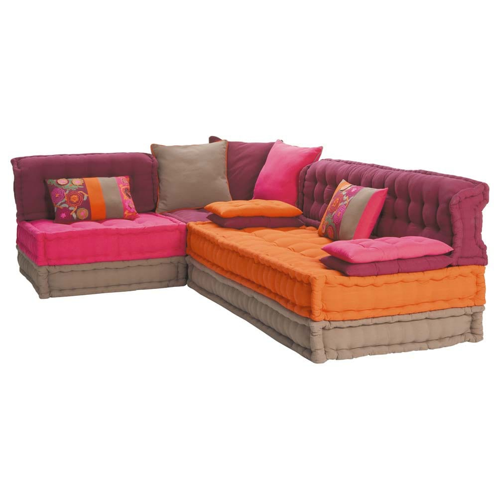 5 seater cotton corner day bed multicoloured bolcho maisons du monde. Black Bedroom Furniture Sets. Home Design Ideas