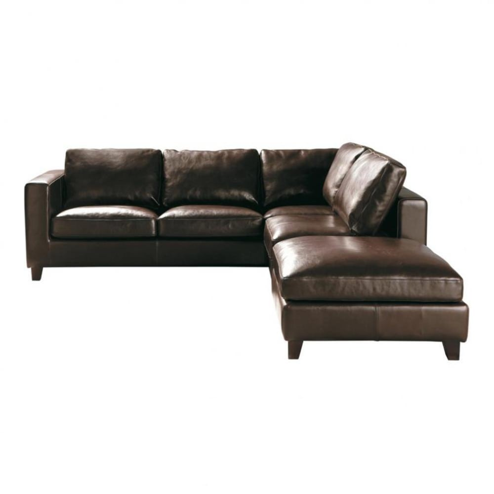 5 seater split leather corner sofa bed in brown kennedy for Sofa lit cuir