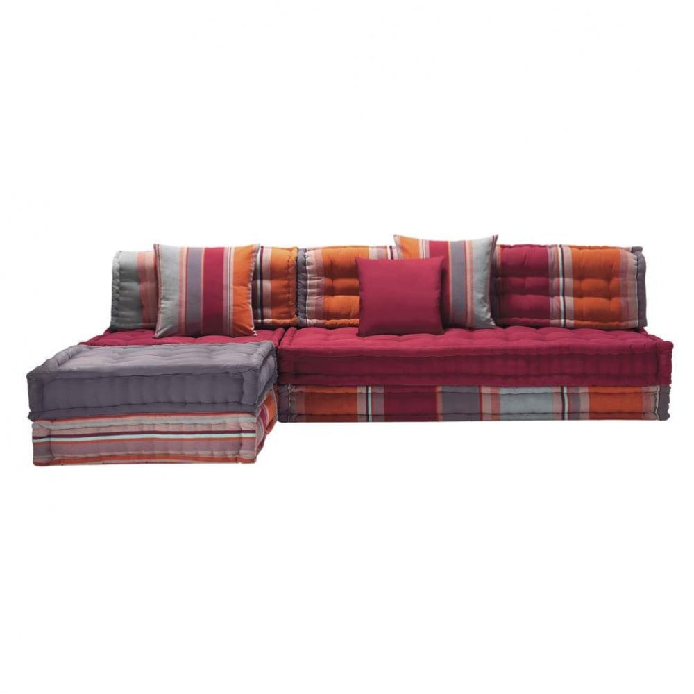 5 sitzer eckpolsterbank aus baumwolle bunt cancun cancun maisons du monde. Black Bedroom Furniture Sets. Home Design Ideas