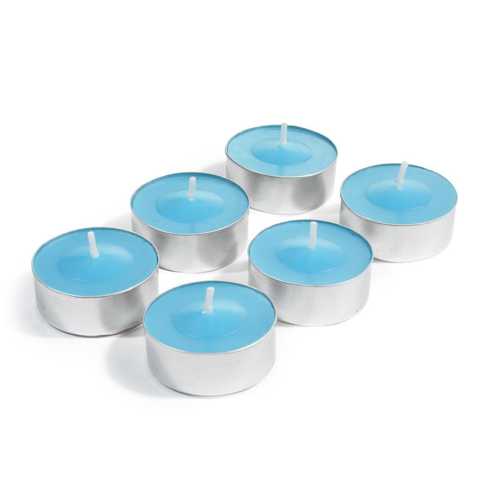 6 bougies chauffe plat bleues h 2 cm maisons du monde. Black Bedroom Furniture Sets. Home Design Ideas