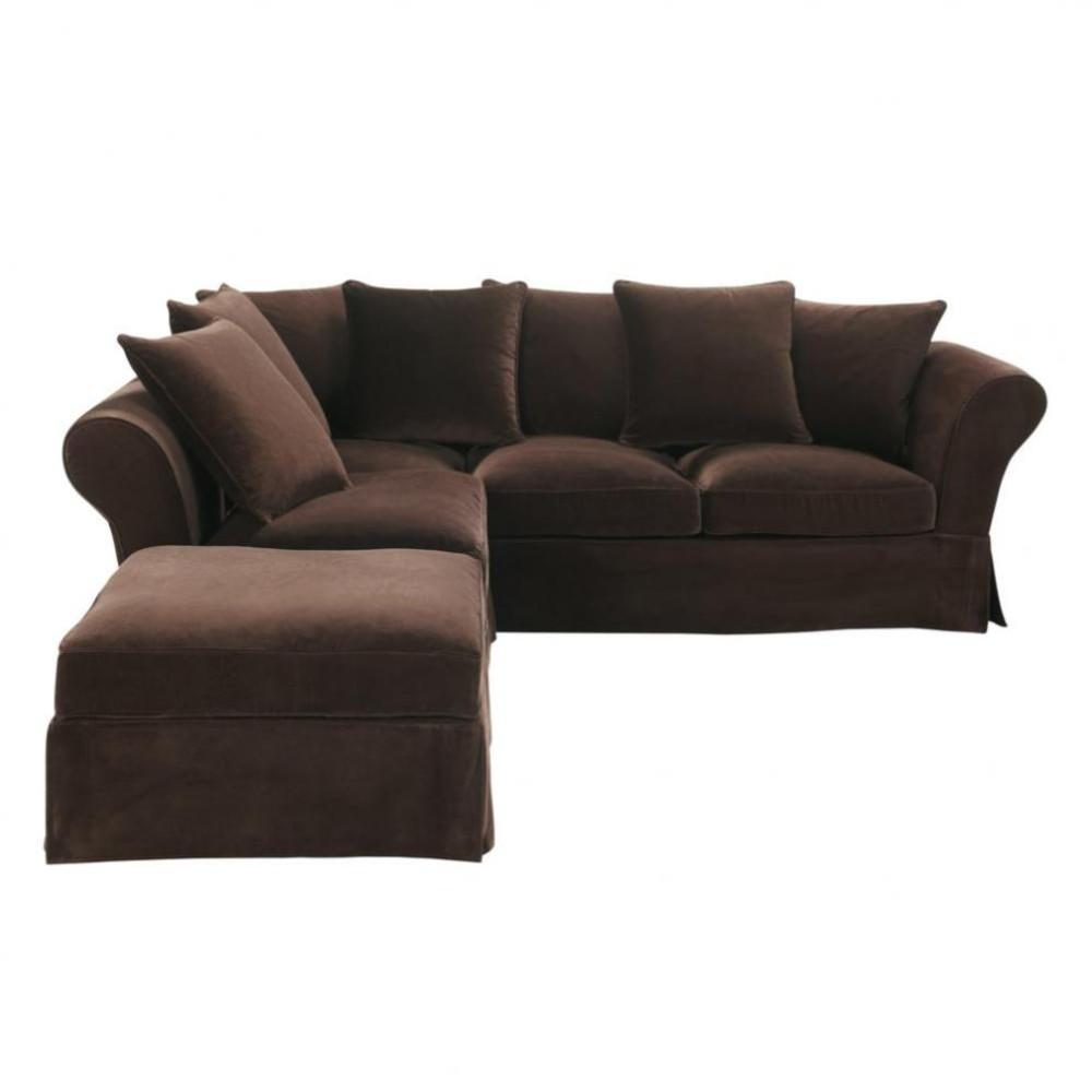 6 seat corner sofa in chocolate velvet Roma Roma  : 6 seat corner sofa in chocolate velvet roma roma 1000 0 7 501804811 from www.maisonsdumonde.com size 1000 x 1000 jpeg 47kB