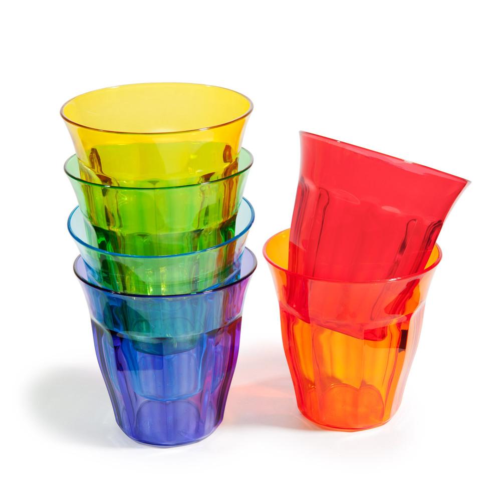 6 vasos anchos de pl stico de colores colorama maisons - Vasos de colores ...