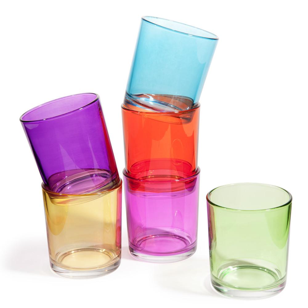 6 vasos de agua de cristal de colores gipsy maisons du monde - Vasos de colores ...