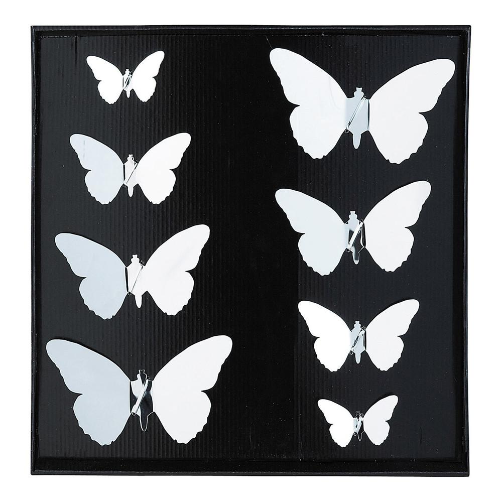 8 stickers miroir butterfly maisons du monde. Black Bedroom Furniture Sets. Home Design Ideas