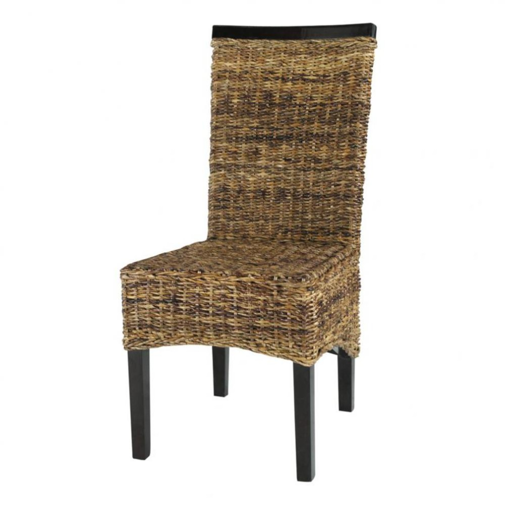 Abaca And Solid Mahogany Chair Bengali Maisons Du Monde