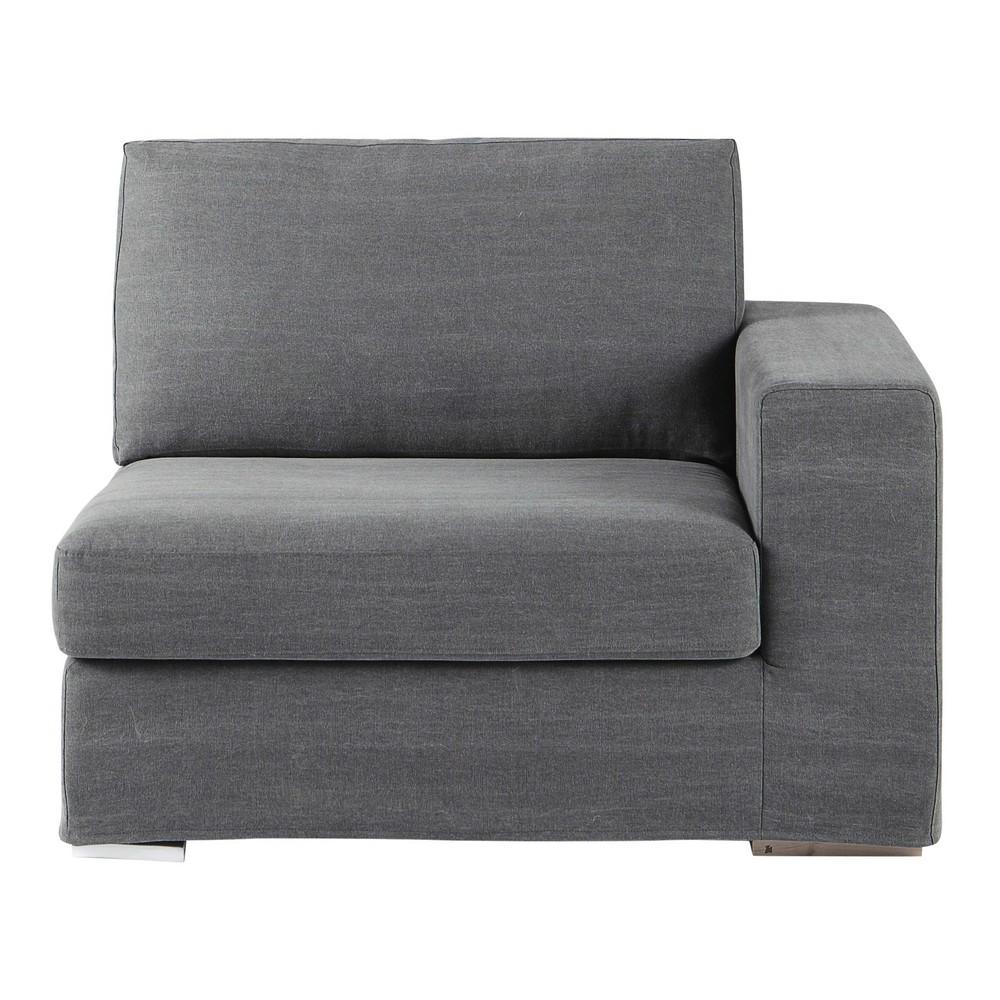 accoudoir droit de canap en coton gris anvers maisons du monde. Black Bedroom Furniture Sets. Home Design Ideas