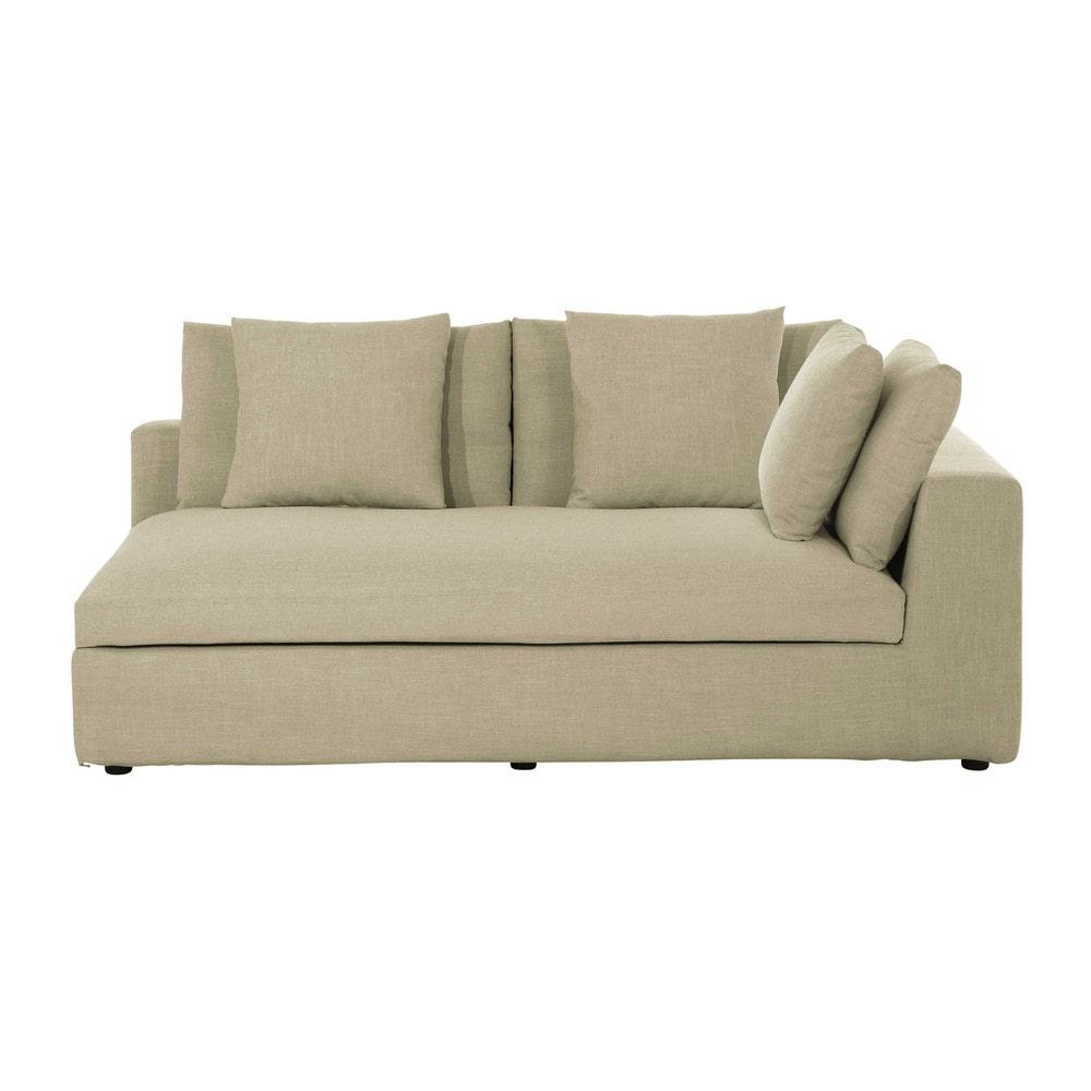 accoudoir droit de canap en tissu mastic edgard maisons. Black Bedroom Furniture Sets. Home Design Ideas