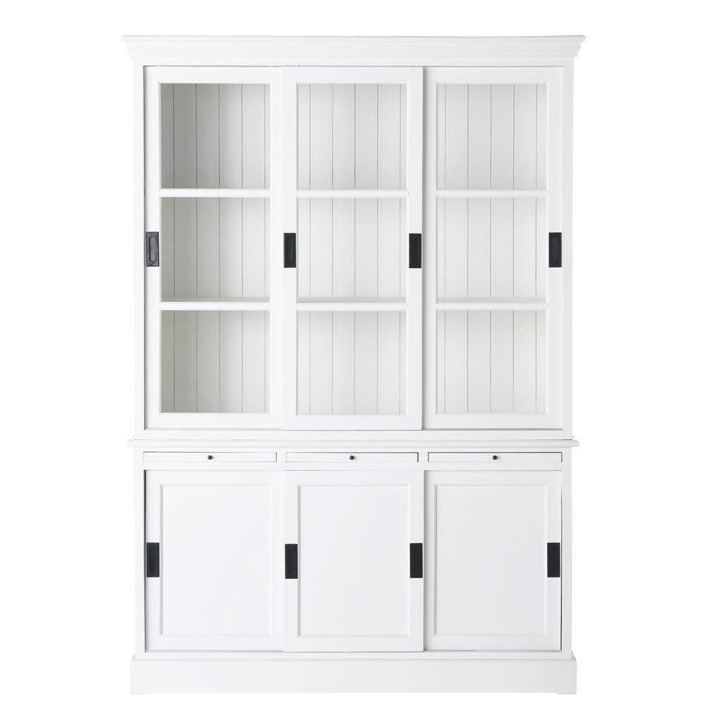 alacena de madera blanca an 140 cm bastille maisons du monde. Black Bedroom Furniture Sets. Home Design Ideas