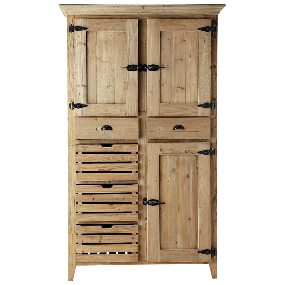 Alacena de madera reciclada an 120 cm pagnol maisons du monde - Alacena de madera ...