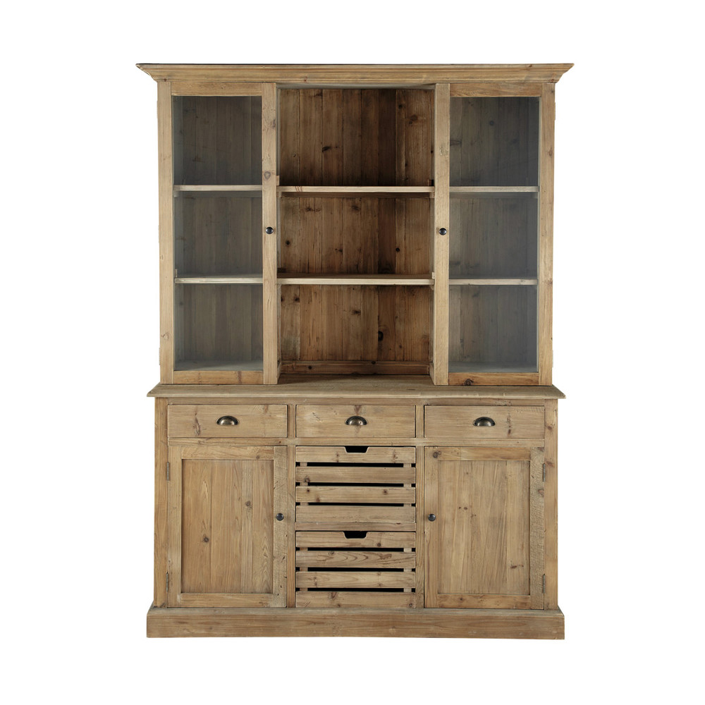 Alacena de madera reciclada an 160 cm pagnol maisons du - Alacena de madera ...