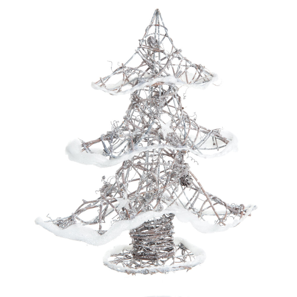 albero di natale in rattan h 30 cm silver maisons du monde. Black Bedroom Furniture Sets. Home Design Ideas