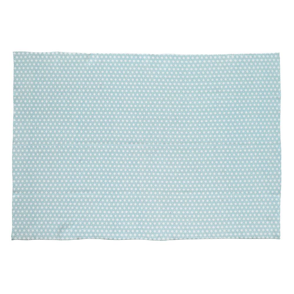 Alfombra azul de algod n 60 120 cm origami maisons du - Alfombras de algodon ...