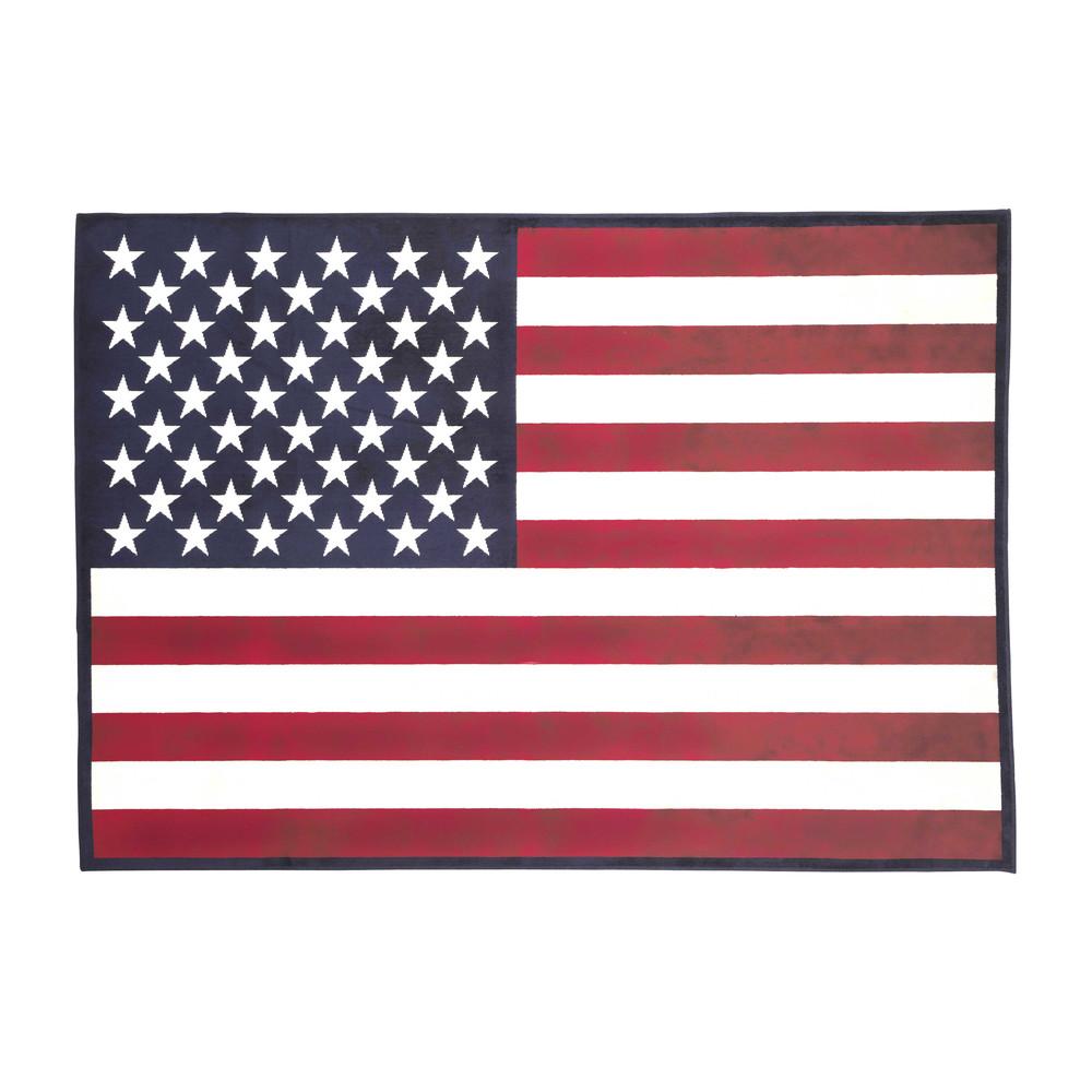 Alfombra bandera 70 100 cm usa maisons du monde - Alfombra banera ...