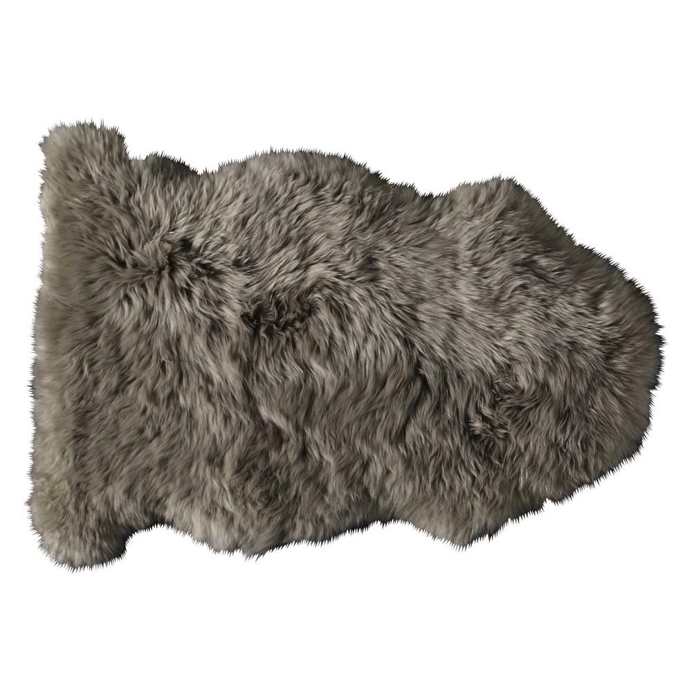 Alfombra beis de piel de oveja 55 90 cm maisons du monde - Alfombra oveja ...