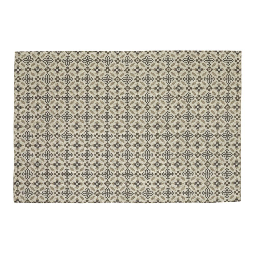 Alfombra con motivos de azulejos de cemento 160 x 230 cm for Alfombras motivos geometricos