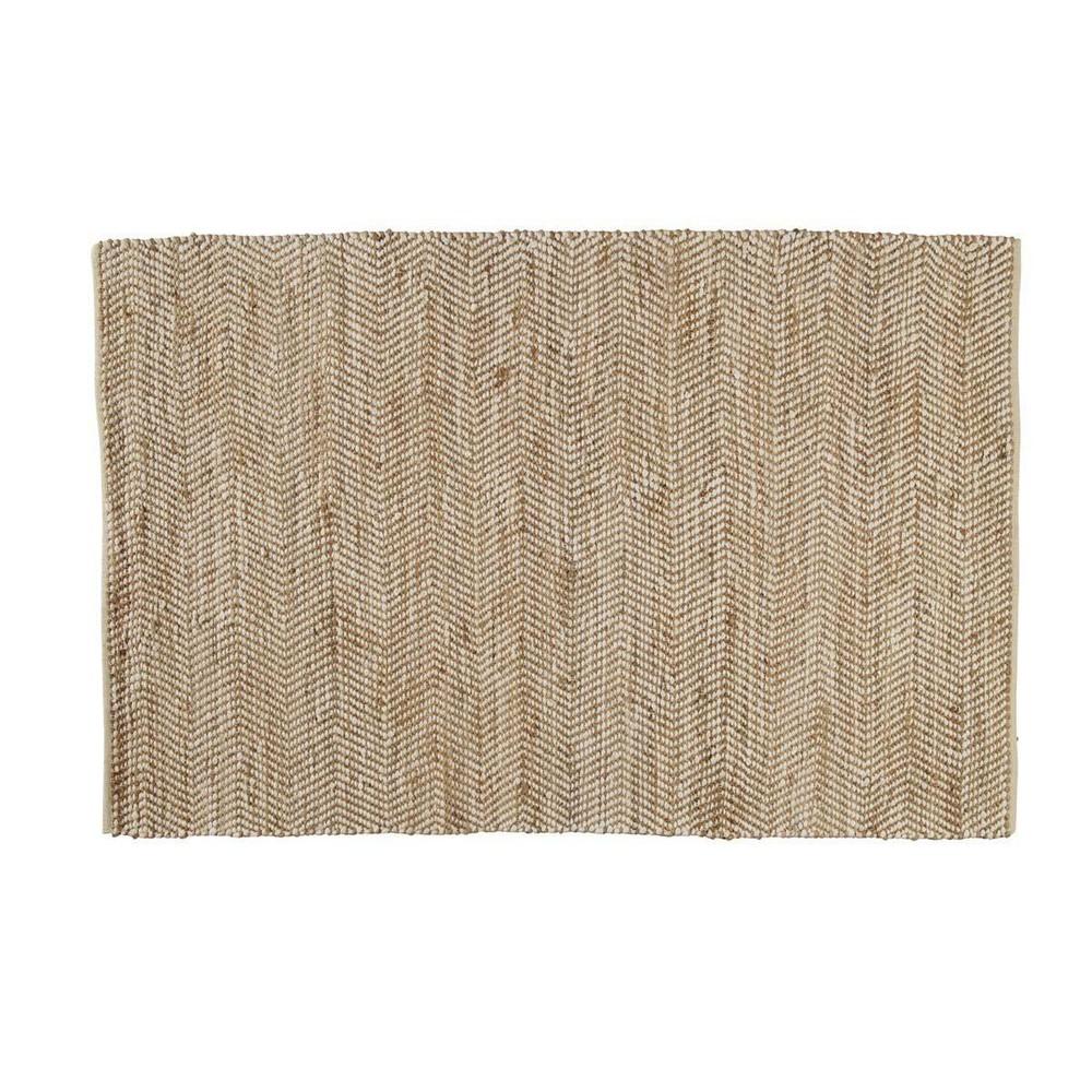 Alfombra de algod n y yute 140 x 200 cm barcelone for Alfombras de algodon
